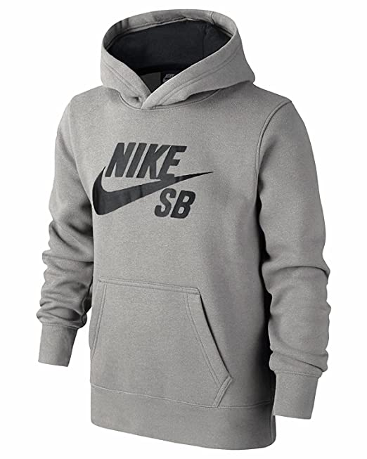 Nike SB boysgirls Sudadera Con Capucha Sin Cremallera/Sudadera Con Capucha Gris Siglos 8-15 AÑOS - Gris, 12-13 Años: Amazon.es: Ropa y accesorios