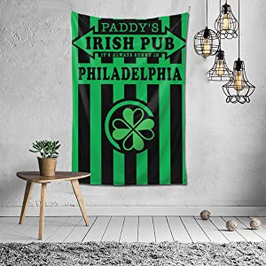 It's Always Sunny In Philadelphia Paddy's Irish Pub Green Tapestries, Boho Wall Tapestry Wall Hanging Tapestry - Room Indian Decorations Retro Art for Living Room Bedroom Dorm Room 40 x 60 inches