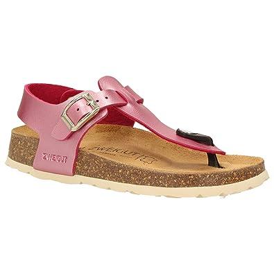 timeless design dd093 f0472 Zweigut® -Hamburg- luftig #503 Mädchen Sandale Zehentrenner Schuhe  Leder-Komfort-Sohle