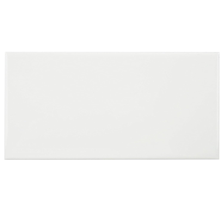 White porcelain subway tile gloss finish 2 x 8 12 box of 10 sqft somertile wxr3psgw pente subway ceramic wall tile 3 x 6 glossy white dailygadgetfo Gallery
