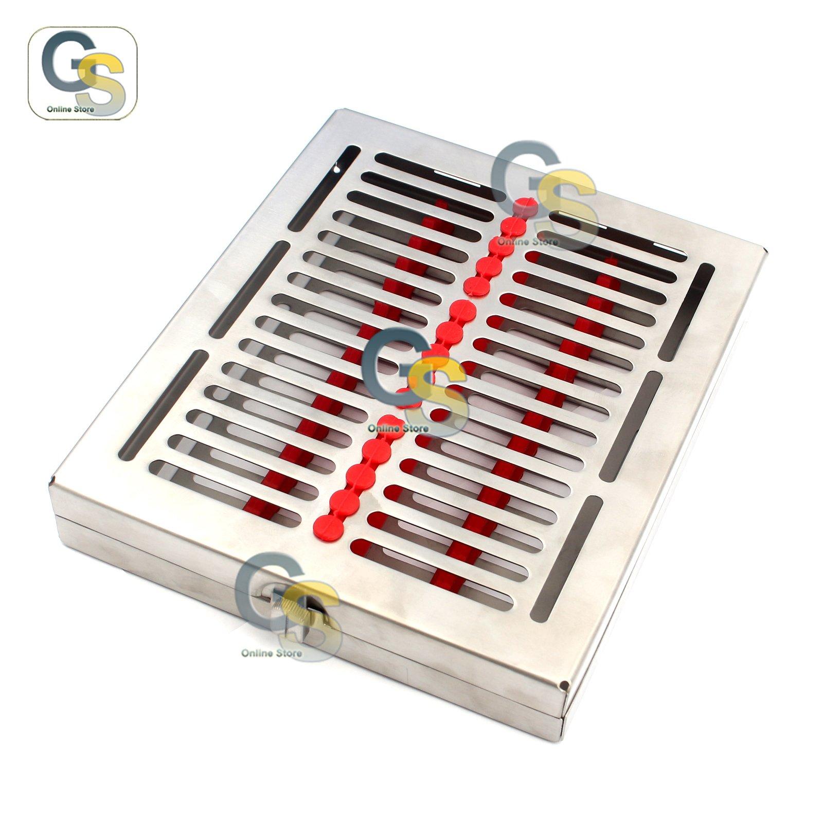G.S DENTAL 15 INSTRUMENTS STERILIZATION CASSETTE TURN LOCK ST-003 BEST QUALITY