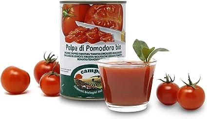 Carioni Food Health Polpa Di Pomodoro Bio A Pezzettoni Lattina Da 400g Confezione Da 12 Pezzi Amazon It Casa E Cucina