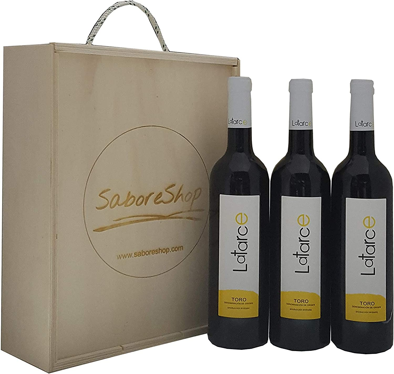 Caja Madera 3 Botellas Vino Tinto Roble Latarce 2016 | Vino Tinto ...