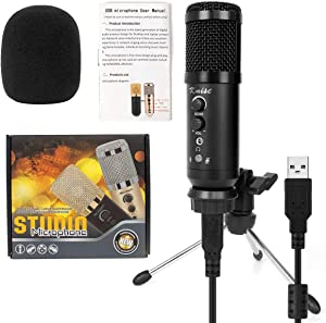 Kmise USB Condenser Microphone for Window&Mac,Multipurpose mic for Gaming Recording Broadcast with Adjustable mic Stand
