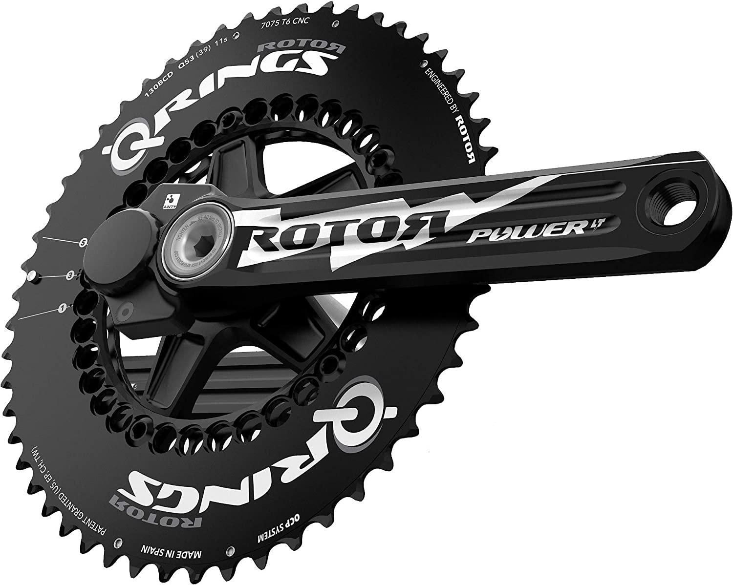 R ROTOR BIKE COMPONENTS INPOWER 3D+ BCD110x5x2 172.5 mm: Amazon.es: Deportes y aire libre