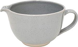 Casafina Fattoria Collection Stoneware Ceramic Batter Bowl 69 oz, Grey