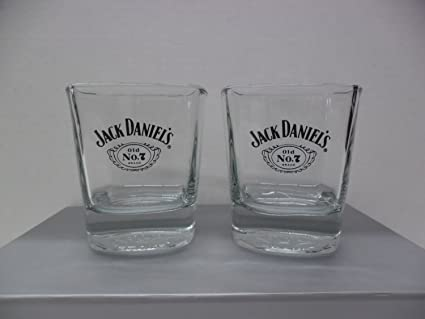 Amazon Jack Daniels Tennessee Whiskey Old No 7 Square Lowball Rocks Glasses