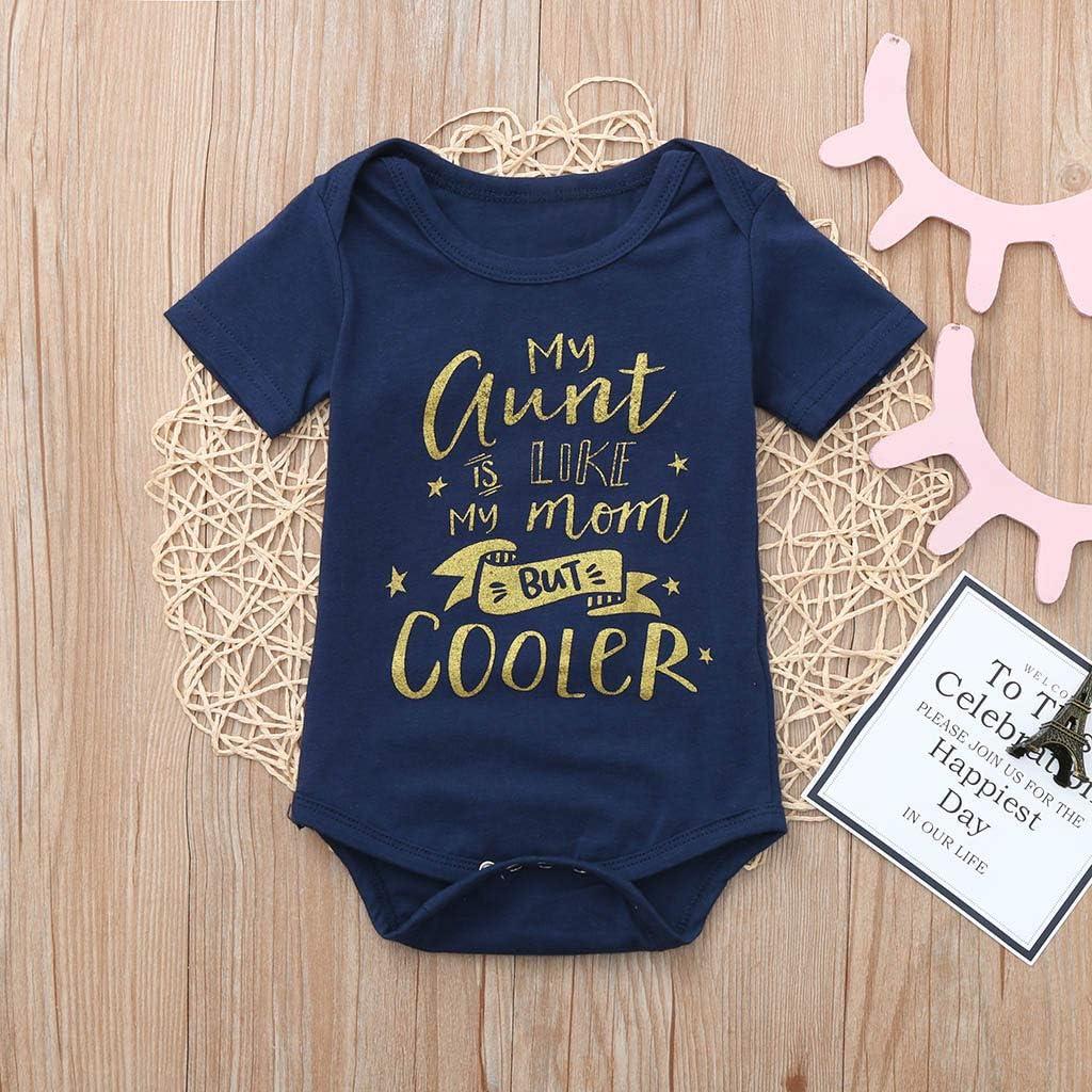 HappyLifea Cute Cartoon Llama Newborn Baby Short Sleeve Romper Infant Summer Clothing