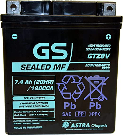 Battery Gtz8v Gs Replaces Ytz8v 1wd H2100 00 00 Original Yamaha Amazon De Auto