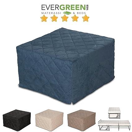 EvergreenWeb - Pouf Letto singolo con materasso h 10 cm- SUITE col ...