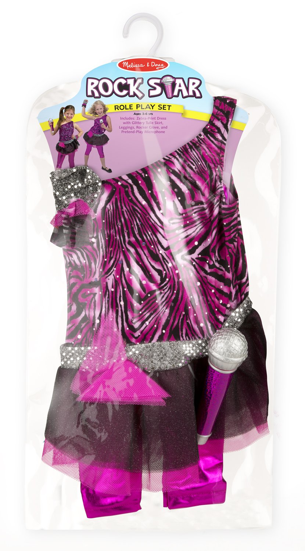 Amazon.com Melissa u0026 Doug Rock Star Role Play Costume Set (4 pcs) - Includes Zebra-Print Dress Microphone Melissa u0026 Doug Toys u0026 Games  sc 1 st  Amazon.com & Amazon.com: Melissa u0026 Doug Rock Star Role Play Costume Set (4 pcs ...