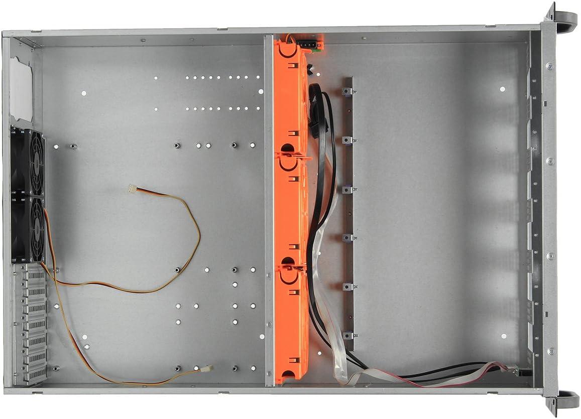 HITSAN 4U Crypto Coin Open Air Mining Frame Rig Graphics Funda para 6 GPU ETH!! BTC 5 Fan One Piece: Amazon.es: Bricolaje y herramientas
