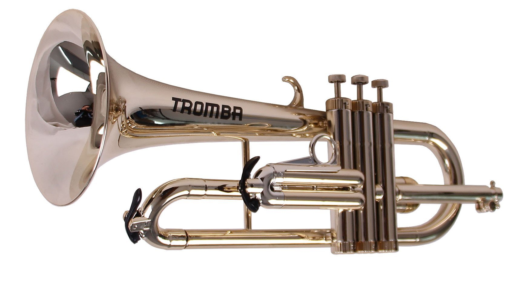 Tromba Pro Professional Plastic Bb Flugelhorn, Golden by Tromba