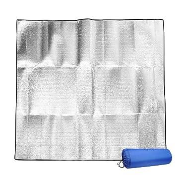Isomatte Campingdecke Zeltmatte Picknickmatte Strandmatte doppelseitige wasserdichte Aluminiumdecke Kissen Outdoor feuchtigkeitsbest/ändige Decke