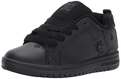 a85da99c1e60fa DC Youth Court Graffik Skate Shoes Black
