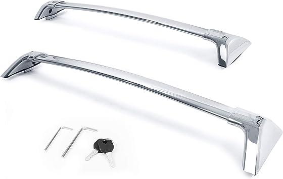 Autekcomma Roof Rack Cross Bars for Toyota RAV4 2019-2020 Not Fit Models for Adventure//TRD Off-Road Anti-Theft Lock Mechanism Silver Painting Aluminum Anti-Corrosion crossbars Loading 260lb