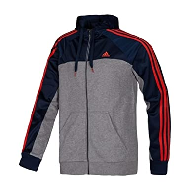 adidas Herren Sweatjacke mit Kapuze Essentials Full Zip 3