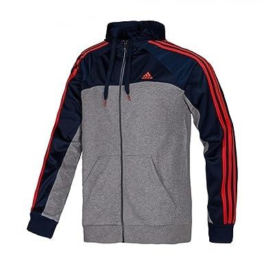 adidas Herren Sweatjacke mit Kapuze Essentials Full Zip 3-Stripes ...