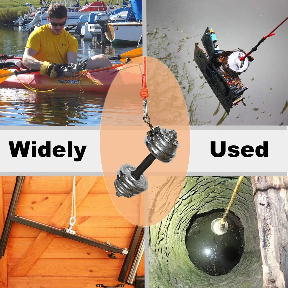/Ø32mm Ideal para Salvamento o Pesca Magn/ética Im/án de Pesca Im/án Redondo de Neodimio S/úper Fuerte Im/án con C/áncamo Fuerza de Atracci/ón 32Kg
