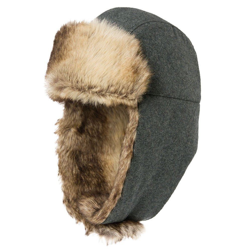 0ac4ab63cd0 Unisex Trooper Trapper Hat Warm Thick Faux Fur Mens Winter Hats for Womens  Earflaps Hunting Hat
