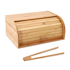 Bamboo Bread Box Countertop Bread Storage Bread Box Kitchen Food Storage Box Bread Storage