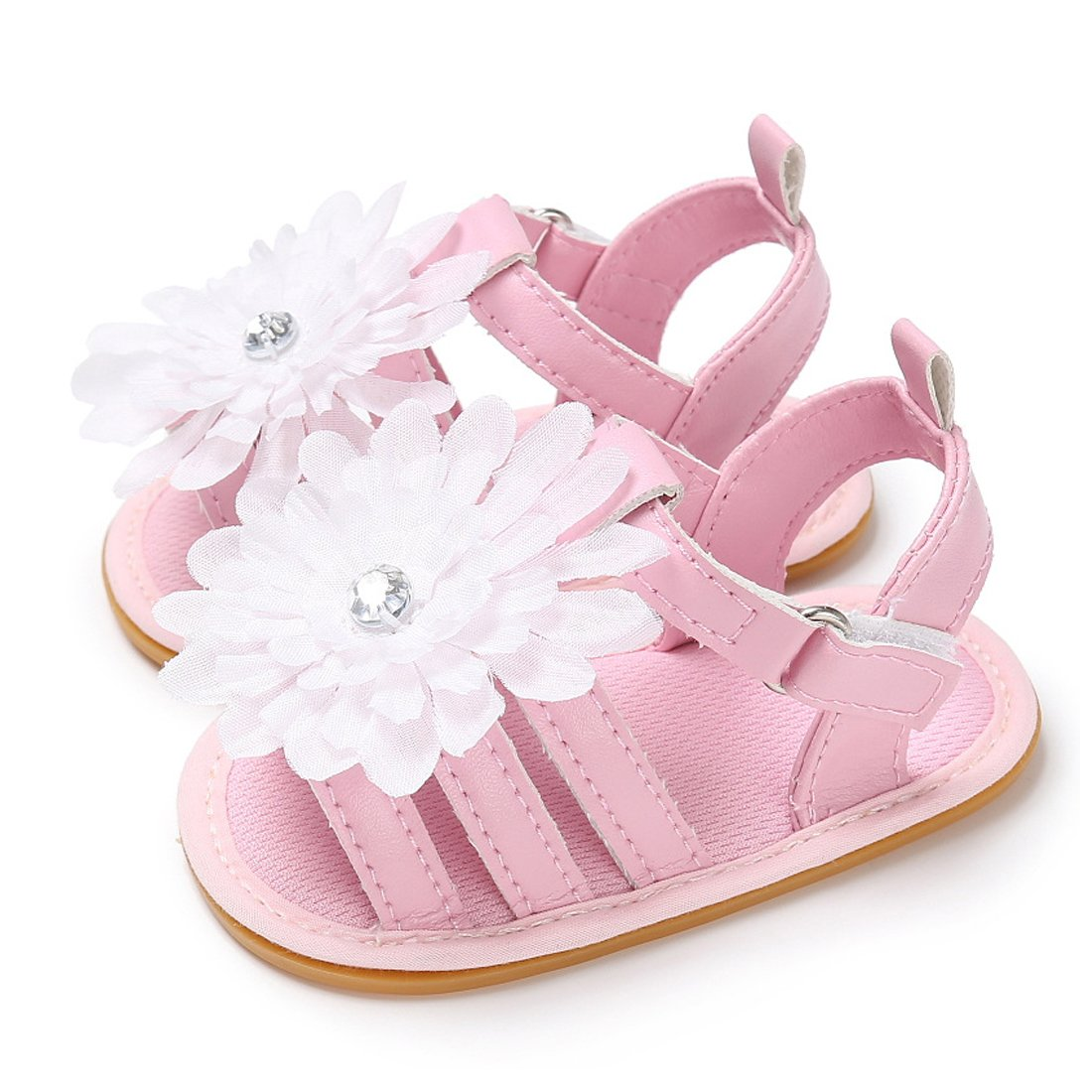 e06cda6ee56f Sabe Infant Baby Girls Soft Sole Sandals Non-Slip Dress Wedding Crib Shoes  Christening Gift  Amazon.co.uk  Shoes   Bags