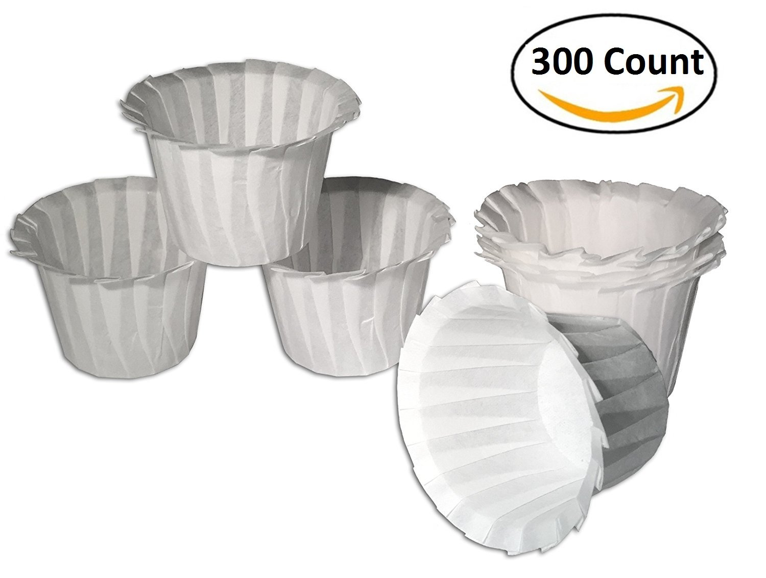 Fill N Save Universal Optional Paper Filters for Reusable K Cups for Keurig Brewers (300 Count)