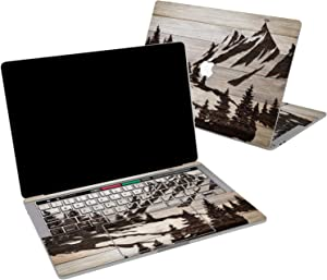 Lex Altern Vinyl Skin for MacBook Air 13 inch Mac Pro 16 15 Retina 12 11 2020 2019 2018 2017 Travel Wood Mountain Forest Tree Scenic Landscape Touch Bar Wrap Trackpad Cover Keyboard Decal Sticker