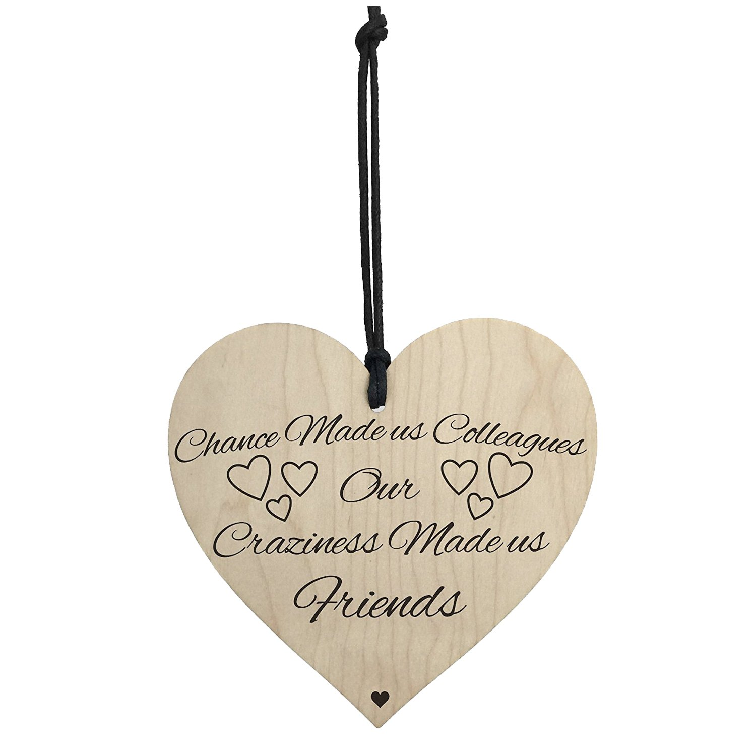 SODIAL(R) Chance Made Us Colleagues Novelty Wooden Hanging Heart Plaque Friendship Sign