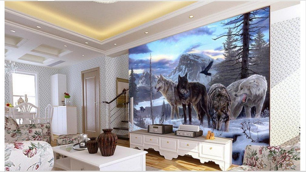 Wxlsl Benutzerdefinierte Fototapete 3D 3D 3D Tapete Wandaufkleber Schnee Wolf Tv Set Wand Home Decor-300Cmx210Cm B07JX5KZ1B Wandtattoos & Wandbilder fe0ba7