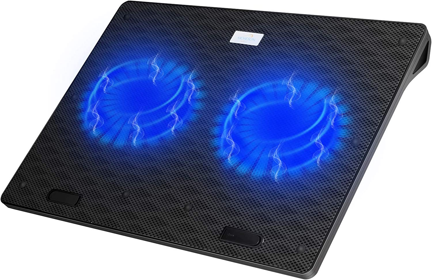 AICHESON Laptop Cooler Cooling Pad with 2 Cooling Fans for 15-17 Inch Notebook Laptops