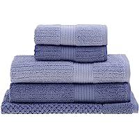 Jogo de Toalhas Buddemeyer Fio Penteado Canelado Banho Azul Claro/Azul 5 peças
