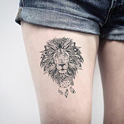 Tatuaje Temporal de Mandala De León (2 Piezas) - www.ohmytat.com ...