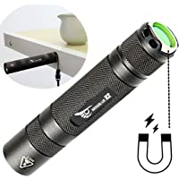 X2 Military Grade Tactical Flashlight, 6 Mode 1600 Lumens 18650 Flashlight Rechargeable, Magnetic Base(Black Only),Ultra Bright Portable Flashlight, Emergency light, outdoor camping tactical equipment