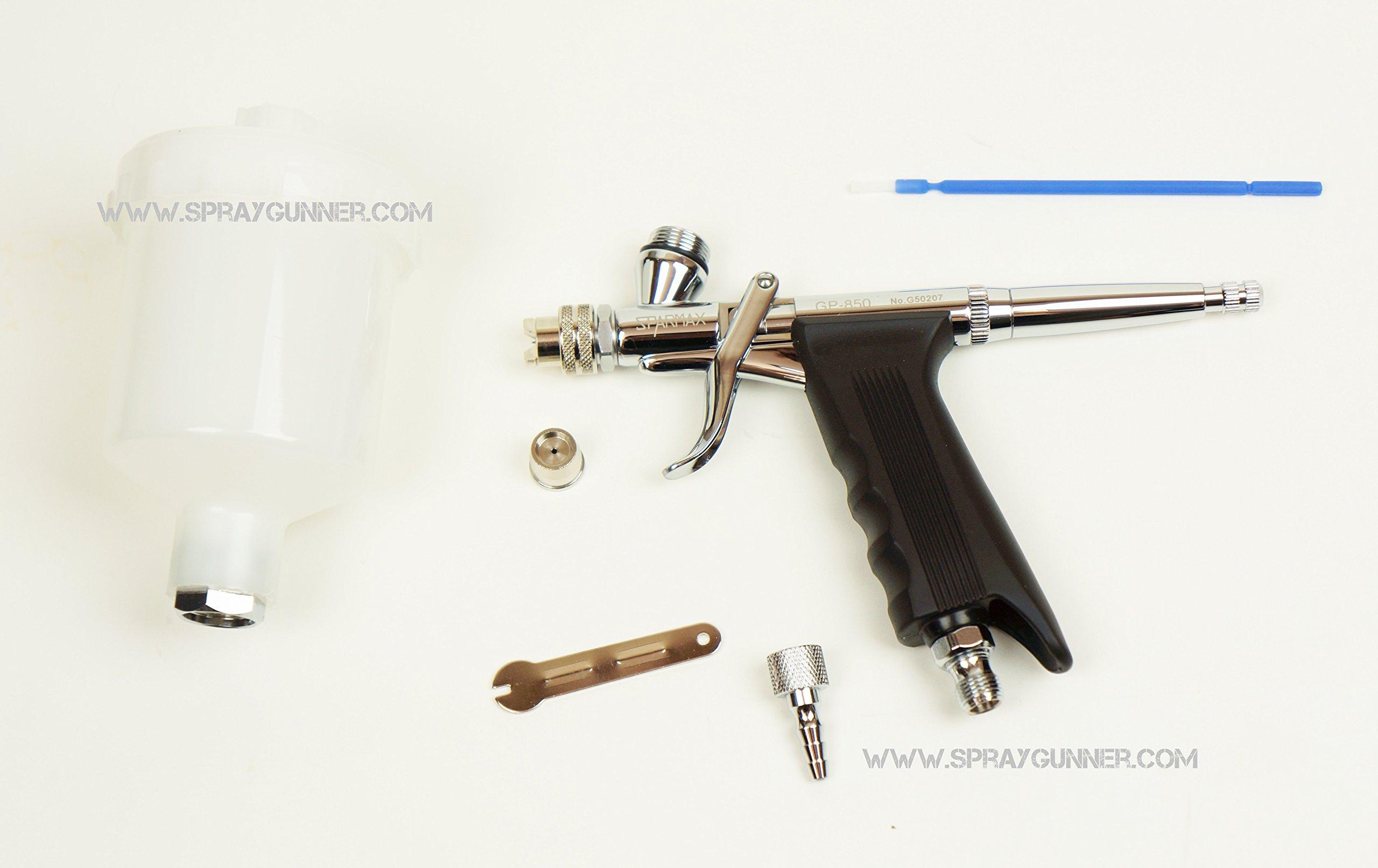 Spray Gun Airbrush Sparmax Pistol Grip Gp-850 gp850 0.5mm nozzle + BONUS by SprayGunner