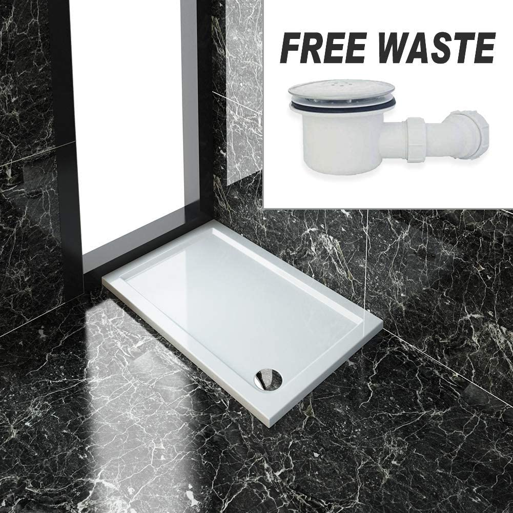 1500 x 700mm Sliding Shower Enclosure 8mm Easy Clean Glass Shower Cubicle Door with Shower Tray Side Panel