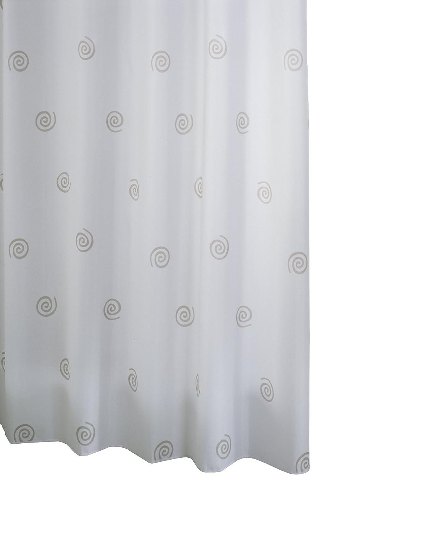 Ridder 414270-350 - Tenda da doccia universale in tessuto, anelli inclusi, 240 x 180 cm, colore: Grigio 41427S-350
