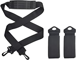 Odoland Ski Strap Perfect Downhill Skiing and Backcountry Gear and Accessories Ski and Poles Carrier with Durable Cushioned Hook and Loop to Protect Skis from Scratches