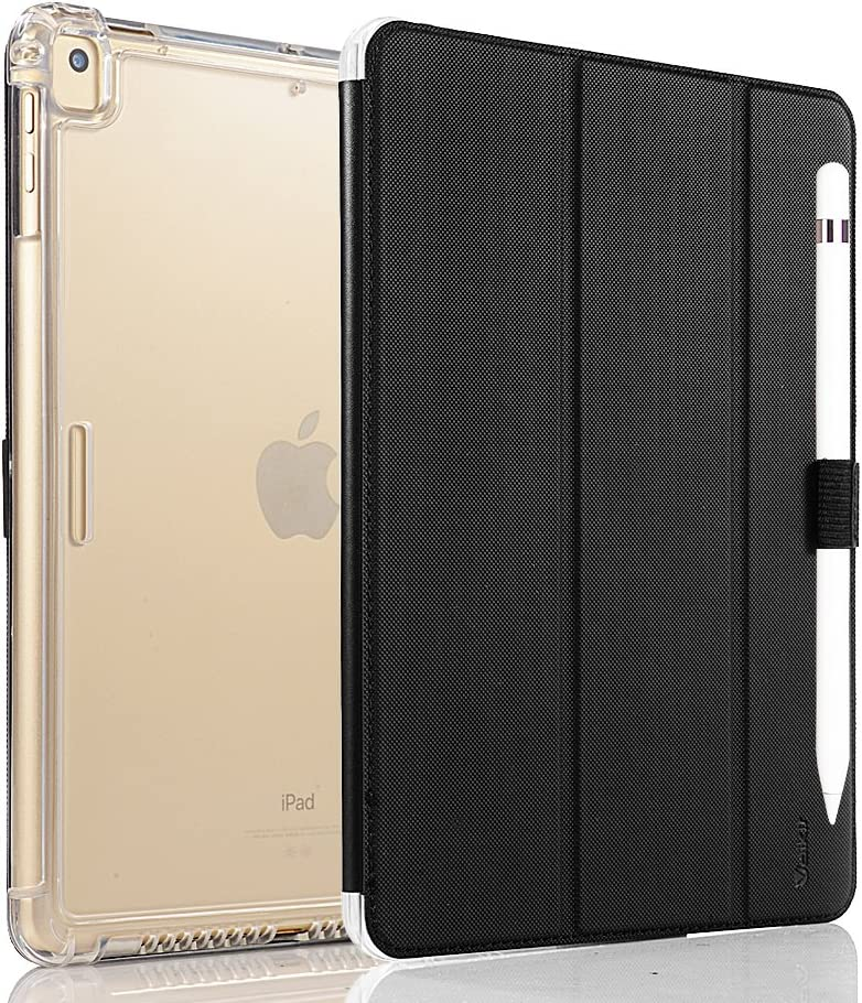 Valkit iPad Pro 9.7 Case 2016 (Old Model), Smart Slim Stand Translucent Frosted Back Cover for Apple iPad Pro 9.7 Inch (A1673 A1674 A1675) with Auto Wake/Sleep, Black