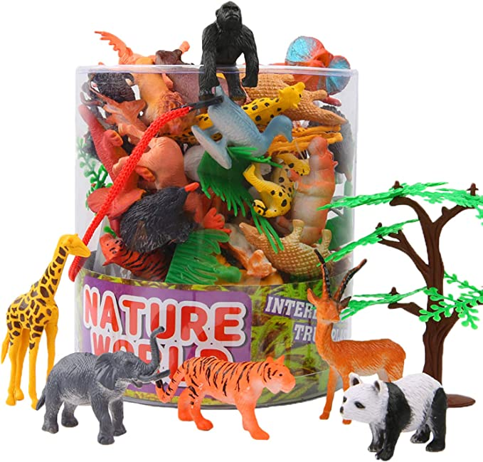 Realistic Jungle Sea Animal Dinosaur Model Figures Nature Toy Home Decor Gifts