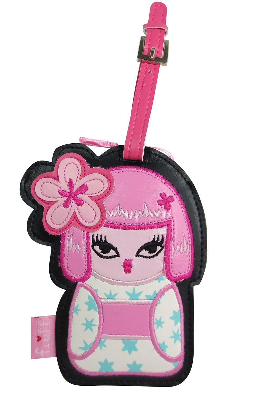 Fluff Kimono Cuties Tokyo Love Kawaii Travel Luggage Tag (Pink - Nana)