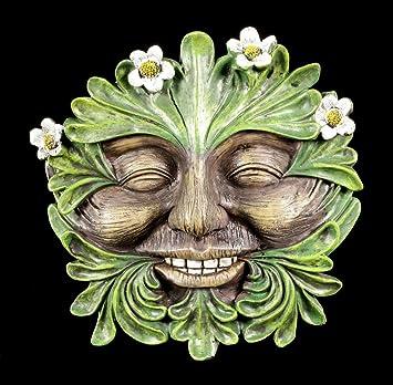 Waldgeist Wandrelief Gänseblümchen Gesicht Fantasy Figur Deko