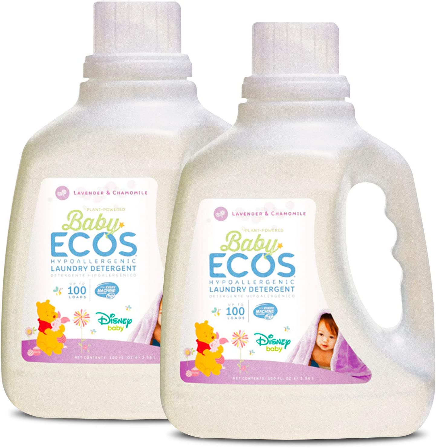 Earth Friendly Products Baby Ecos Disney Laundry Detergent,Lavender and Chamomile,100 Fl Oz, (Pack of 2)