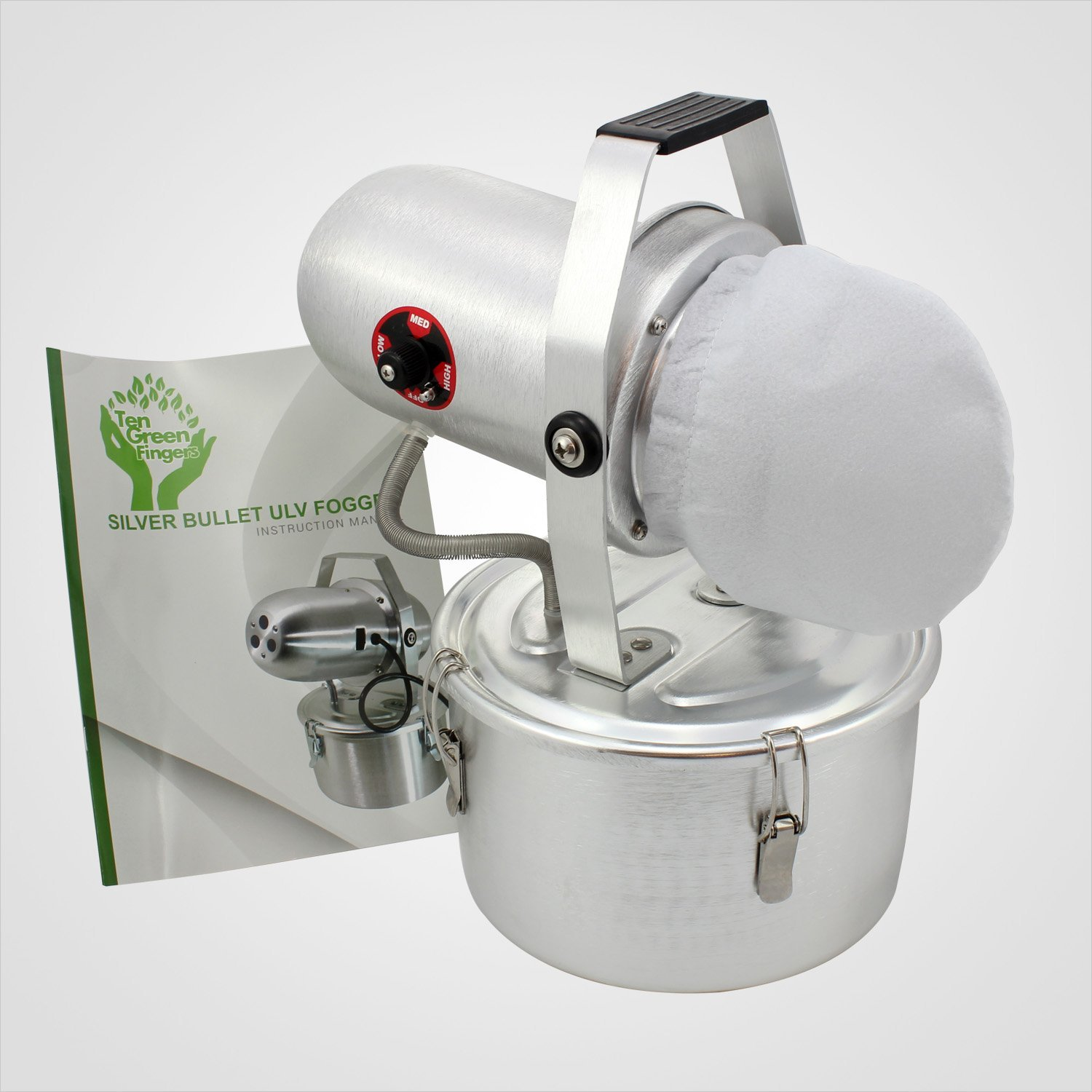 Silver Bullet ULV Non-Thermal Cold Fogger can help you with insect fumigation, pest control fogging, sanitizer and sterilization fogging, and as well as mildew and mold control