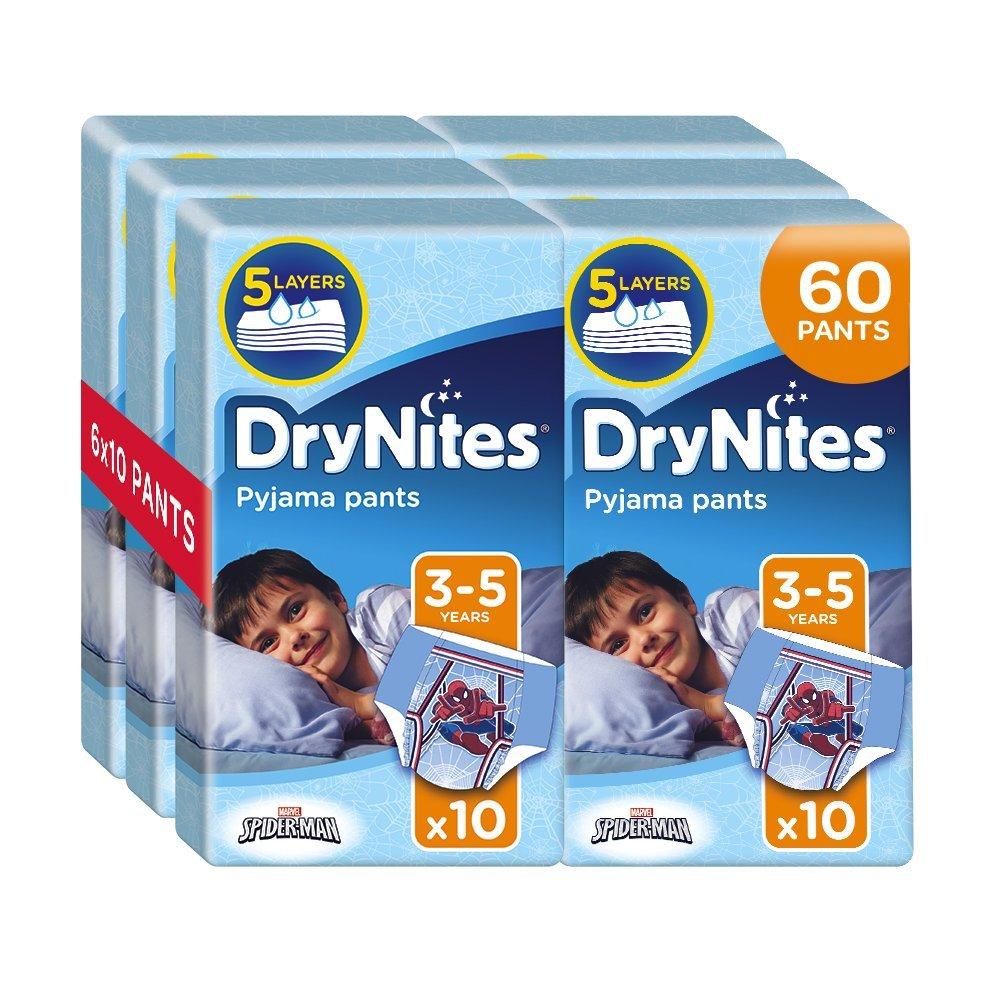 Drynites Mutandine Assorbenti per la Notte da Bambino, 16-23 Kg, 6 Confezioni da 10 Pezzi Kimberly Clark 2145071