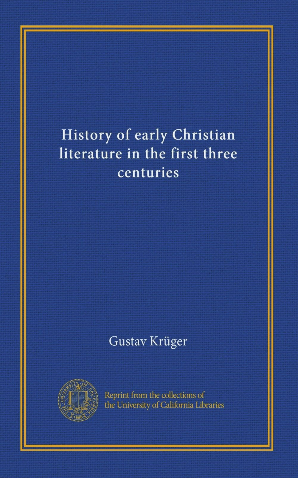 Download History of early Christian literature in the first three centuries pdf