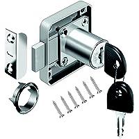 VOLGA kastslot meubelslot cilinder-meubelslot schroefslot met sleutel set voor laden en kasten | staal vernikkeld…