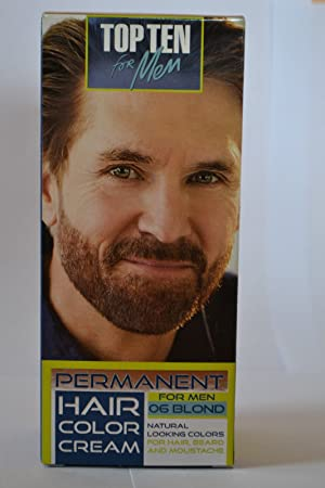 TOP TEN for Men,Permanent color cream for hair,beard and moustache ...