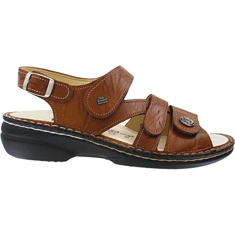 Finn Comfort Women's Gomera Fashion Sandals, Brown, Leather, Suede, 36 EU / 5-5.5 M US
