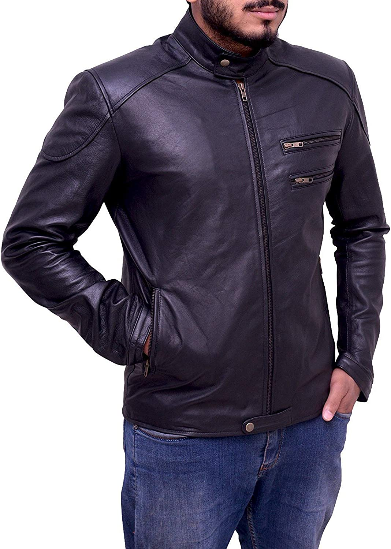 TrendHoop Mens 4 Pockets Style Party Wear Black Vest
